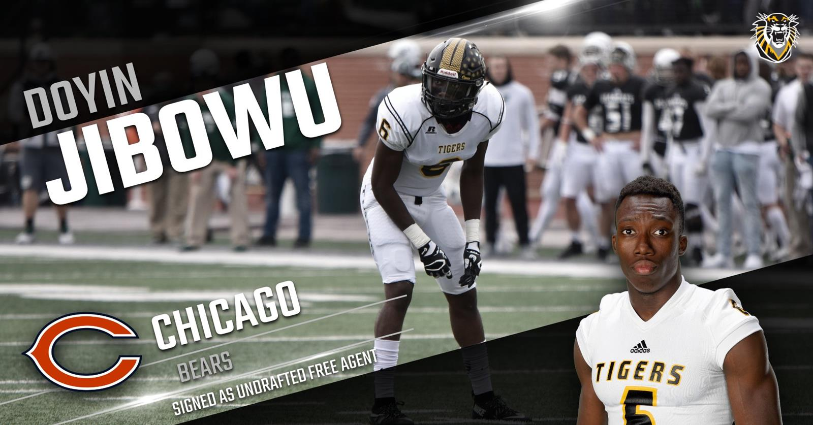 Doyin Jibowu Signed by Chicago Bears as Undrafted Free Agent FHSU